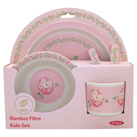 Kids dinner set of 4 pcs Lily, Petit white