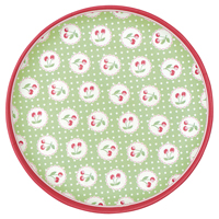 Plate Cherry berry, Pale green