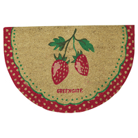 Doormat Strawberry, Red half round