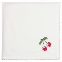 Servett Cherry, Red w/embroidery