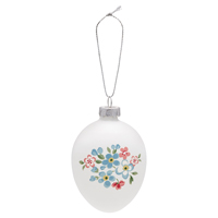 Egg ornament hanging Meryl, White