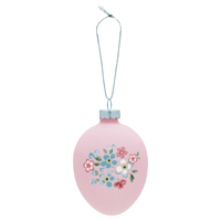 Egg ornament hanging Meryl, Pale pink