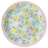 Plate Limona, Pale blue