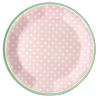 Plate Spot, Pale pink