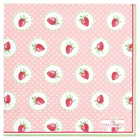 Servetter Strawberry, Pale pink small