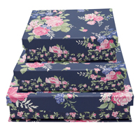 Storage box Rose, Dark blue set of 3 assorted
