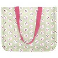 Shopper bag Cherry berry, Pale green