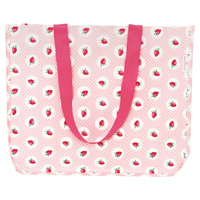 Shopper bag Strawberry, Pale pink