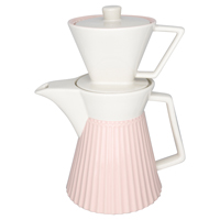 Coffee pot w/filter Alice, Pale pink
