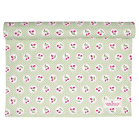 Table runner Cherry berry, Pale green