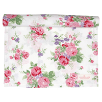 Table runner Rose, White