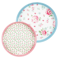 Tray Meryl mega, White round set of 2