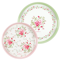 Tray Mary, White round set of 2