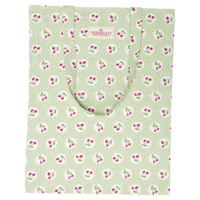 Bag cotton Cherry berry, Pale green