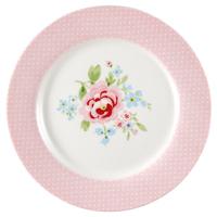 Kids plate Meryl, Pale pink