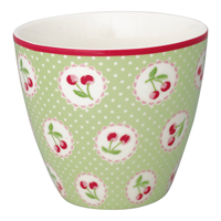 Lattemugg Cherry berry, Pale green