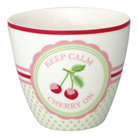 Lattemugg Cherry mega, White