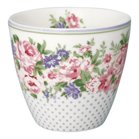 Lattemugg Rose, White
