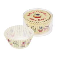 Set med 50 muffinsformar, Vintage Cupcakes