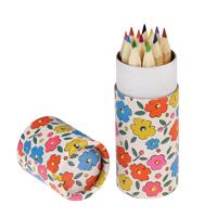 Färgpennor i tub, Floral maze