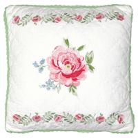 Kuddfodral Meryl mega, White w/embroidery