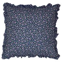 Kuddfodral Berta, Dark blue w/frill