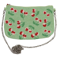 Hand bag Cherry berry, Pale green