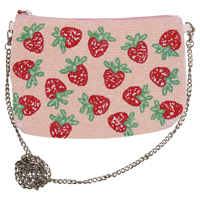 Hand bag Strawberry, Pale pink