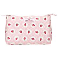 Stor sminkväska Strawberry, Pale pink