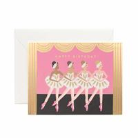 Kort med kuvert, Birthday Ballet Card
