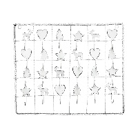 Advent calendar, White