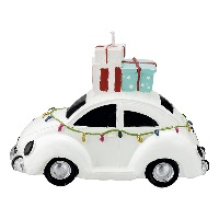 Candle car, White