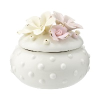Jewelry box Daisy, Dusty creme small