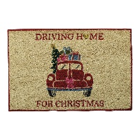 Doormat Christmas car, Red