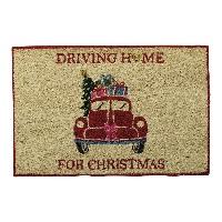 Doormat Christmas car, Red