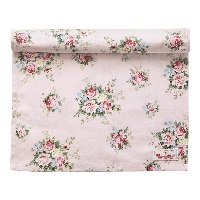 Table runner Aurelia, Pale pink