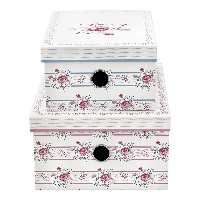 Storage box Fiona, Pale pink set of 2