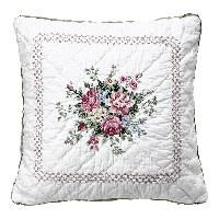Kuddfodral Aurelia, White w/embroidery