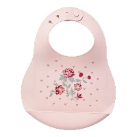 Baby bib Ruby petit, Pale pink