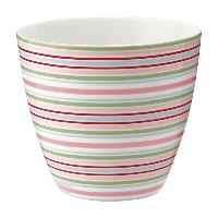Lattemugg Silvia stripe, White