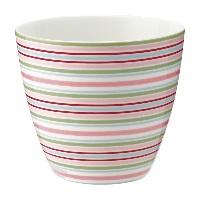 Lattemugg Silvia stripe, White