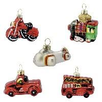 Julgranskula Christmas car, Red set of 5