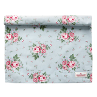 Table runner Marley, Pale blue