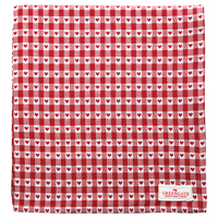 Duk Heart petit, Red 150x150 cm