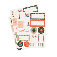 Etiketter, Nutcracker Stickers & Lables