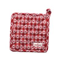 Grytlapp Heart petit, Red set of 2 pcs