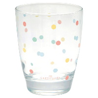Water glass Multi dots, White