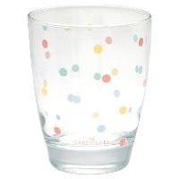 Water glass Multi dots, White