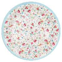 Plate Vivianne, White