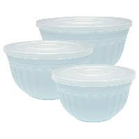 Bowl w/lid Alice, Pale blue set of 3
